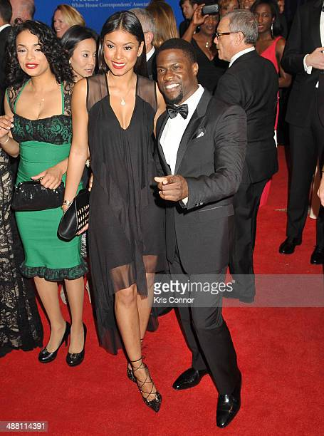 Eniko Parrish and Kevin Hart attend the 100th Annual White House Correspondents' Association Dinner at the Washington Hilton on May 3 2014 in...
