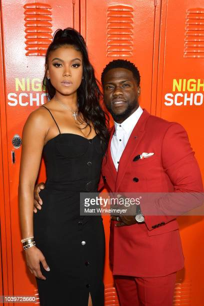 Eniko Parrish and Kevin Hart attend the premiere of Universal Pictures' Night School on September 24 2018 in Los Angeles California