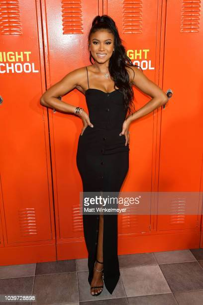 Eniko Parrish attends the premiere of Universal Pictures' Night School on September 24 2018 in Los Angeles California