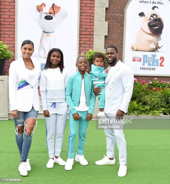 Eniko Parrish Heaven Hart Hendrix Hart Kenzo Kash Hart and Kevin Hart arrive at the Premiere Of Universal Pictures' The Secret Life Of Pets 2 at...