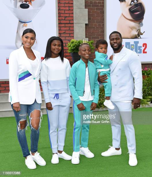 Eniko Parrish Heaven Hart Hendrix Hart Kenzo Kash Hart and Kevin Hart attend the premiere of Universal Pictures' The Secret Life of Pets 2 at Regency...