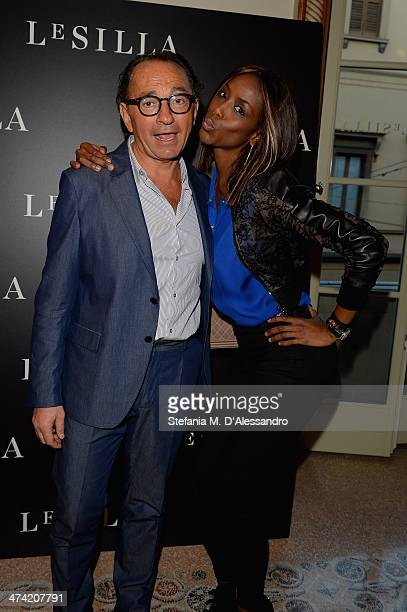 Enio Silla and Ainett Stephens attend the Le Silla Fall/Winter 201415 Collection Presentation as part of Milan Fashion Week Womenswear Autumn/Winter...