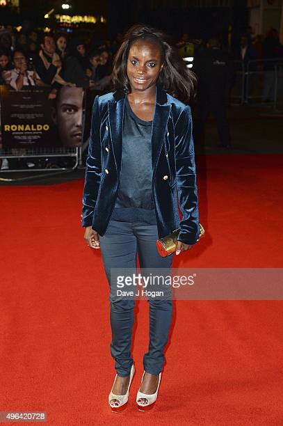 Eniola Aluka attends the World Premiere of 'Ronaldo' at Vue West End on November 9 2015 in London England