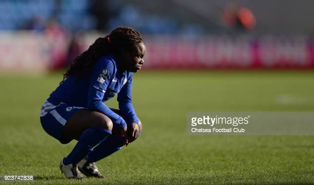 Eniola Aluko during a WSL match between Chelsea Ladies and Manchester City Women at the Academy Stadium on February 24 2018 in Manchester England