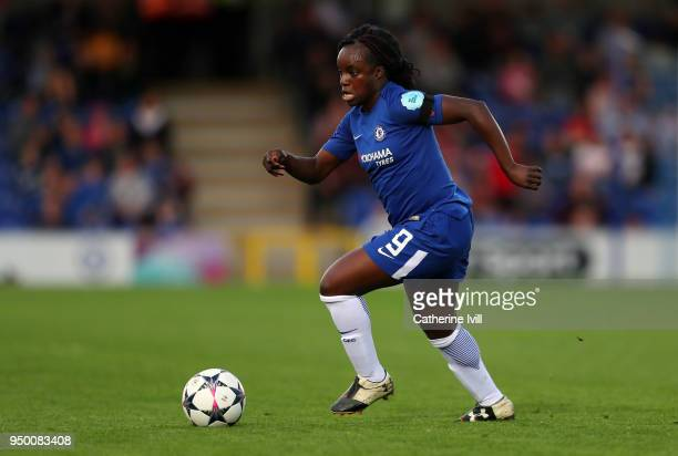 Eniola Aluko of Chelsea during the UEFA Womens Champions League SemiFinal First Leg between Chelsea Ladies and Wolfsburg at The Cherry Red Records...