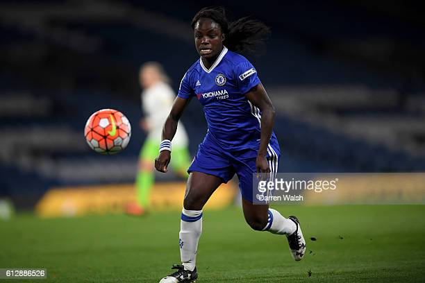 Eniola Aluko of Chelsea Ladies during a UEFA Champions League match between Chelsea Ladies and Wolfsburg at Stamford Bridge on October 5 2016 in...