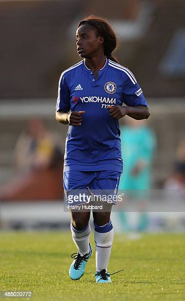 Eniola Aluko of Chelsea Ladies FC during the FA WSL match between Arsenal Ladies FC and Chelsea Ladies FC at Meadow Park on August 23 2015 in...