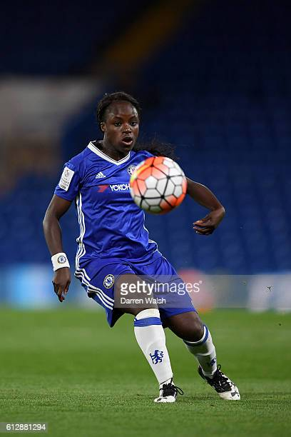 Eniola Aluko of Chelsea Ladies in action during a UEFA Champions League match between Chelsea Ladies and Wolfsburg at Stamford Bridge on October 5...
