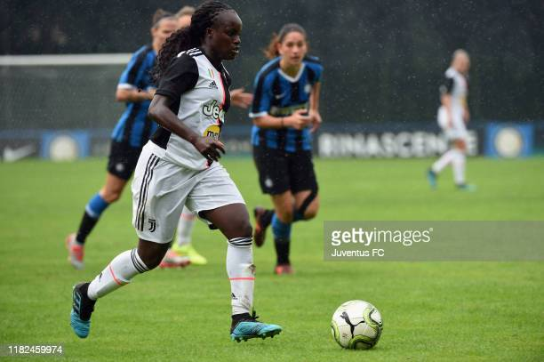 Eniola Aluko of FC Juventus Women in action during the Women Serie A match between FC Internazionale and Juventus at Campo Sportivo F Chinetti on...