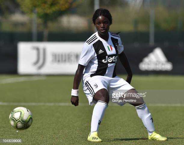 Eniola Aluko of Juventus controls the ball during the Women's Serie A match between Juventus and Fimauto Valpolicella at Juventus Center Vinovo on...