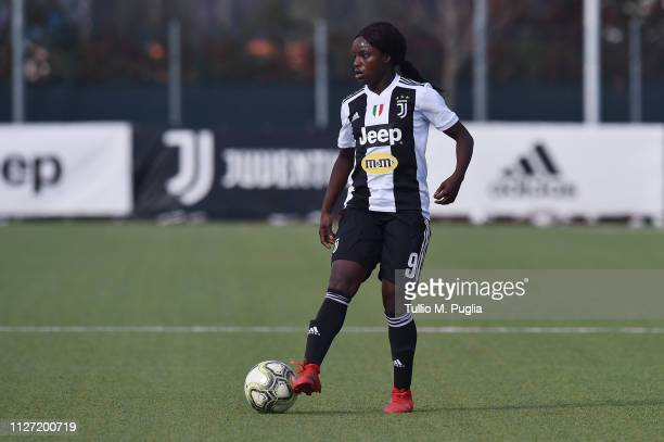 Eniola Aluko of Juventus in action during the Women Serie A match between Juventus Women and AS Roma at Juventus Center Vinovo on February 03 2019 in...
