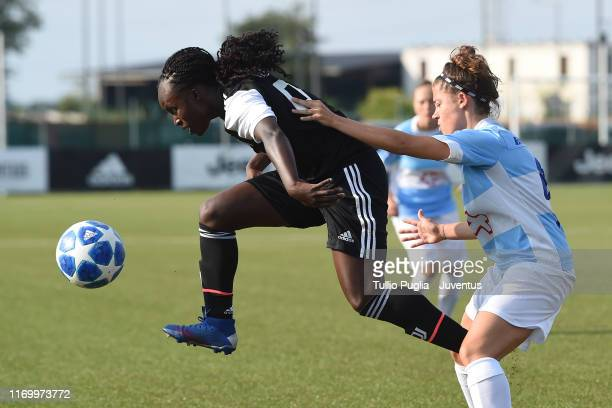 Eniola Aluko of Juventus Women in action during the friendly match between Juventus Women and Novese Women at Juventus Training Center on August 24...