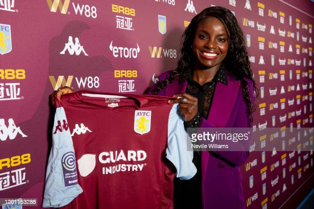 Eniola Aluko poses for a portrait as she is unveiled as the Sporting Director of Aston Villa Women at Bodymoor Heath training ground on January 22...