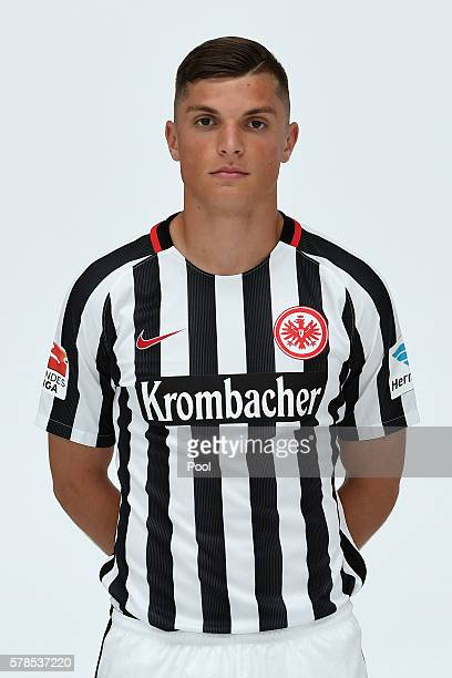 Enis Bunjaki poses during the Eintracht Frankfurt Team Presentation on July 21 2016 in Frankfurt am Main Germany