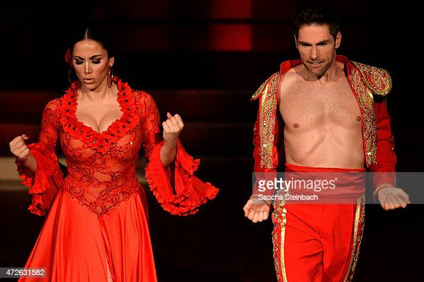 Enissa Amani and Chirstian Polanc perform on stage during the 8th show of the television competition 'Let's Dance' on May 8 2015 in Cologne Germany