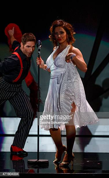 Enissa Amani and Christian Polanc perform on stage during the 7th show of the television competition 'Let's Dance' on May 1, 2015 in Cologne, Germany.