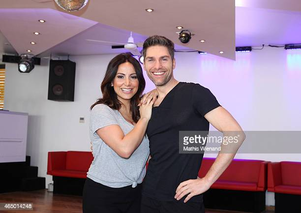 Enissa Amani and Christian Polanc pose at a photo call for the television competition 'Let's Dance' on March 3, 2015 in Cologne, Germany. On March...