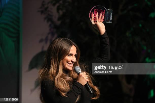 Enissa Amani at the Glammy Award on February 07, 2019 in Munich, Germany.