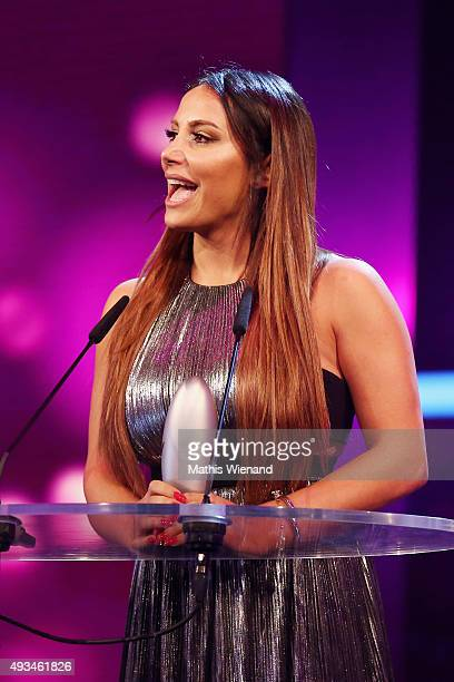 Enissa Amani attends the 19th Annual German Comedy Awards at Coloneum on October 20, 2015 in Cologne, Germany.