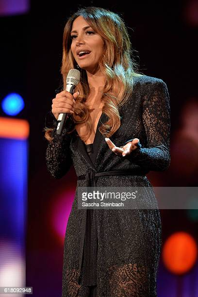 Enissa Amani attends the 20th Annual German Comedy Awards at Coloneum on October 25, 2016 in Cologne, Germany.
