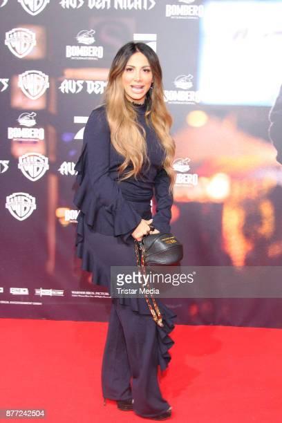 Enissa Amani attends the German premiere 'Aus dem Nichts' on November 21, 2017 in Hamburg, Germany.