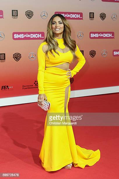 Enissa Amani attends the German premiere of the film 'SMS fuer Dich' at CineStar on September 6 2016 in Berlin Germany