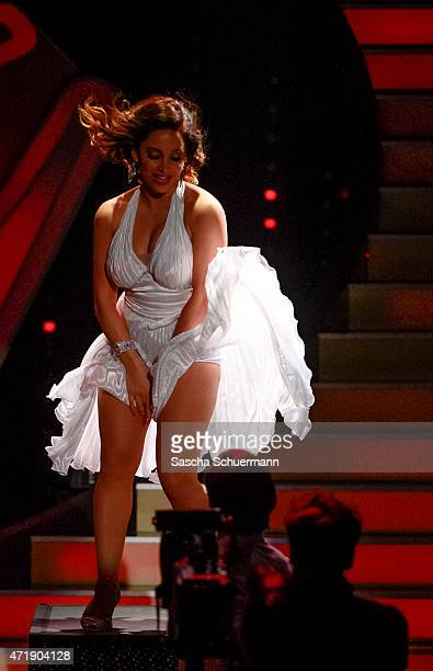 Enissa Amani performs on stage during the 7th show of the television competition 'Let's Dance' on May 1 2015 in Cologne Germany