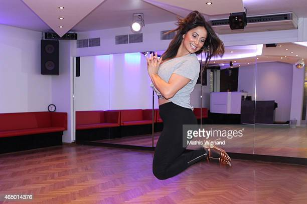 Enissa Amani poses at a photo call for the television competition 'Let's Dance' on March 3 2015 in Cologne Germany On March 13th the show in which...