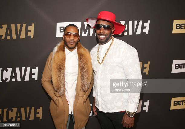 Enitan Bereola and Holman Arthurs attend BET Network's 'Mancave' Event at Goya Studios on February 16 2018 in Los Angeles California
