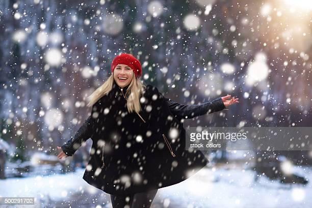 Genießen Sie ein hervorragendes winter Tag