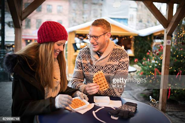 enjoy belgium waffles - belgium stock pictures, royalty-free photos & images