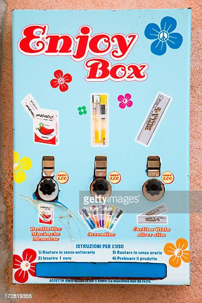 enjoy box condom vending machine - condom box stock pictures, royalty-free photos & images
