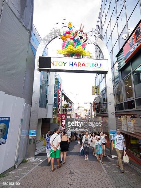 Disfrute de Harajuku Calle Takeshite en el centro de Tokio