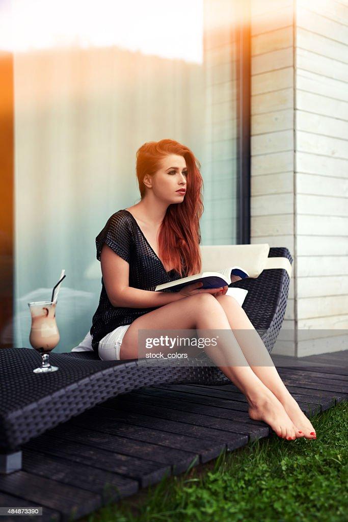 Bare foot redhead
