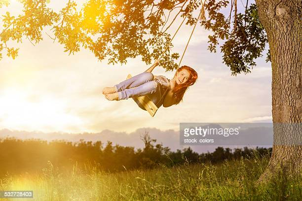 enjoy swinging outdoors