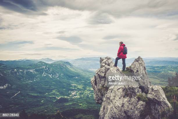 enjoy the amazing landscape - mountain peak stock pictures, royalty-free photos & images