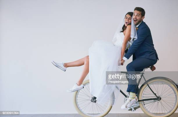 enjoy the journey of marriage - wedding dress stock pictures, royalty-free photos & images