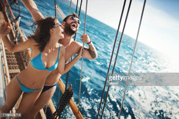enjoyable cruise at an open sea. - adults only stock pictures, royalty-free photos & images