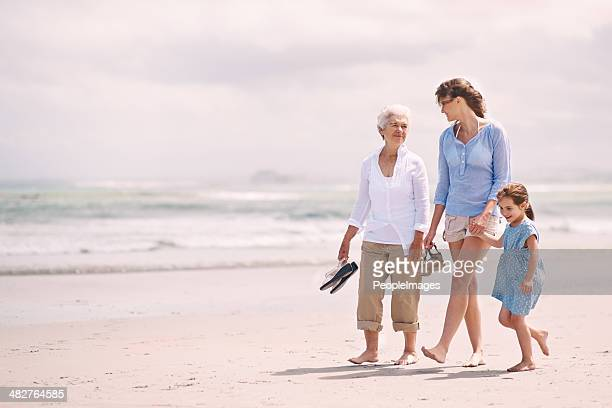 enjoying a girl's day out - multigenerational family stock photos and pictures
