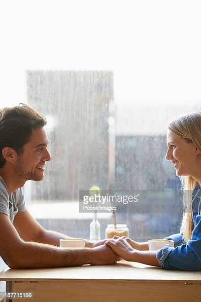 Enjoying a great first date!