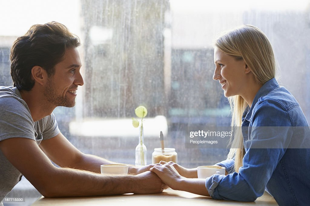 Enjoying a great first date! : Stock Photo