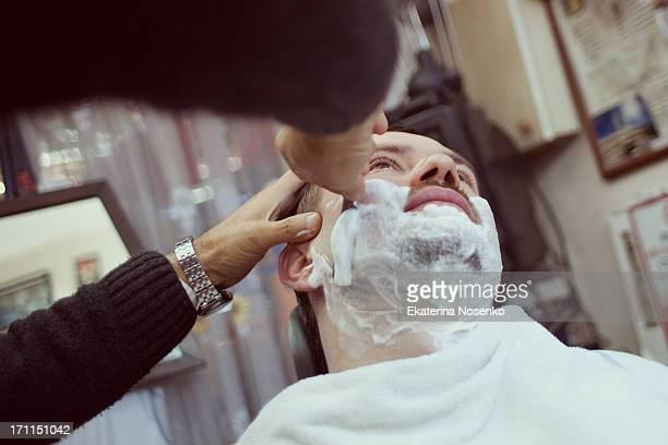 Enjoying a shave