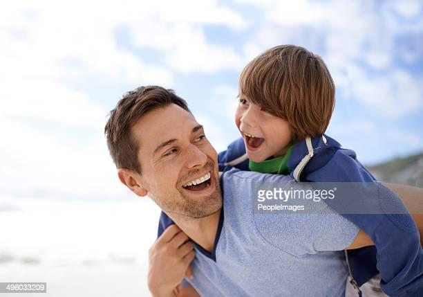 Profitant d'une offre spéciale père-fils jour