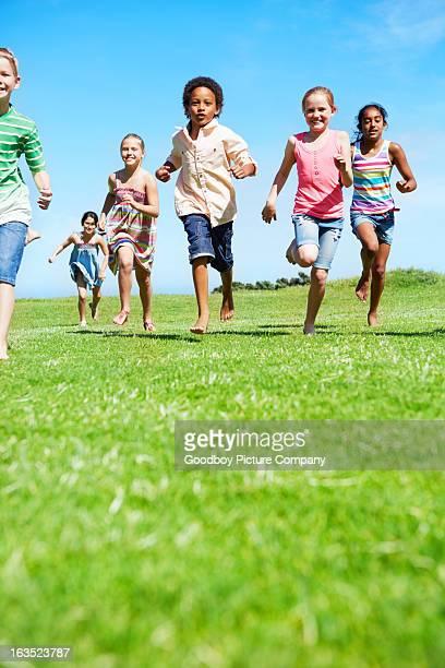Enjoying an active childhood