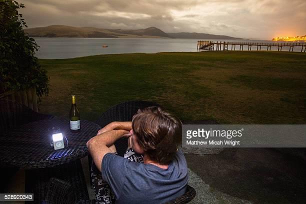 Enjoying an outdoor oceanside evening.
