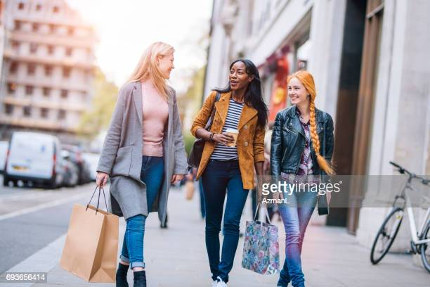 enjoying  and fun - high street stock pictures, royalty-free photos & images