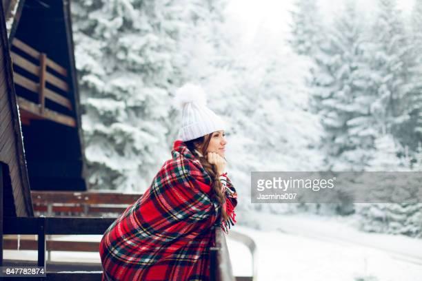 Enjoying beautiful winter day