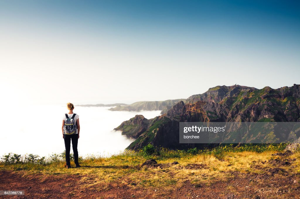 Enjoying Beautuiful Outdoors On Madeira Island : Stock Photo
