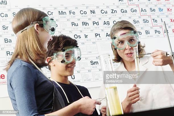 Enjoying chemistry lab
