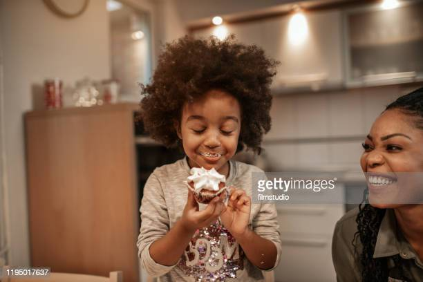enjoying christmas sweets - dessert sweet food stock pictures, royalty-free photos & images